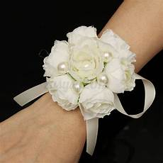 bridal wedding wrist flower bouquet artificial