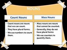 count and mass nouns collective nouns grade 4