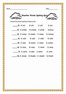 weather words worksheets 14703 weather words spelling quiz worksheet free esl printable worksheets made by teachers