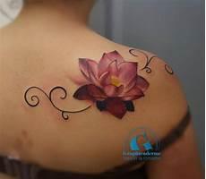 39 lotus tattoos on shoulder
