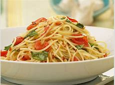 angel hair with cherry tomatoes and basil image