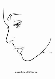 ausmalbild gesicht im profil kostenlos ausdrucken