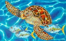 green sea turtle painting by daniel jean baptiste