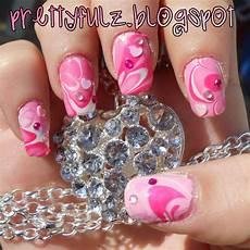 prettyfulz valentine s day nail art design pink
