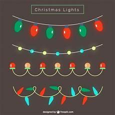 bright christmas lights vector free download
