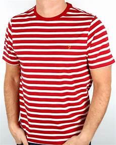 farah lennox striped t shirt marl s