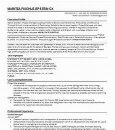 vendor manager resume sle manager resumes livecareer