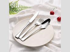 3pcs/set Dinnerware Luxury Western Style Stainless Steel