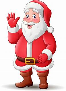happy santa claus waving premium vector
