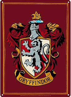 Malvorlagen Harry Potter Gryffindor Gryffindor Harry Potter A5 Tin Sign Toysntech