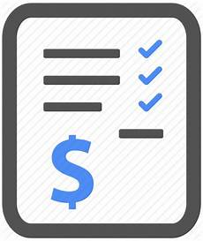 bill billing blue check finance invoice payment icon
