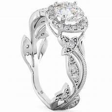 vine wedding ring sterling silver cz floral leaf engagement and