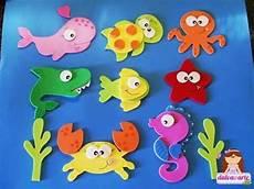 moldes hacer animales marinos con fieltro05 foamy pez goma goma moldes y