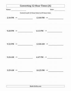 convert time worksheets grade 3 3454 converting from 12 hour to 24 hour times a