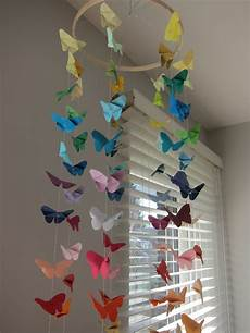 mobile basteln anleitung diy origami butterfly mobile