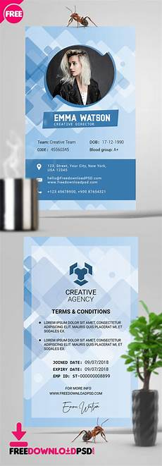 journalist id card template free office id card psd template freedownloadpsd