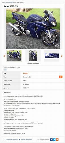 le bon coin moto pays de loire suzuki 1000 svs motos pays de la loire best of le