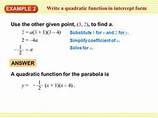 find equation of quadratic function with 3 points tessshebaylo