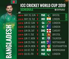world cup 2019 bangladesh squad fixtures venue and match timing crictracker