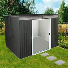 Metallger 228 Tehaus Pent Roof 8x6 Mit Pultdach Anthrazit