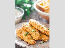 crunchy turkey strips with maple mustard dipping sauce_image