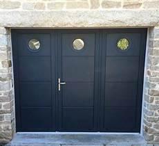 porte de garage 3 vantaux porte de garage battante 3 vantaux avec hublots aluminium56