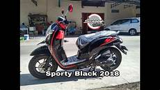 Modifikasi Honda Scoopy 2018 by Terbaru Honda Scoopy Black Sporty Hitam 2018 Review