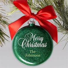 merry christmas ornament images personalized merry christmas glass holiday ornament giftsforyounow