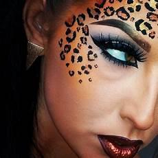katze schminken erwachsene leopard make up 56 gode ideer