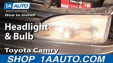 how to replace install headlight toyota camry 102 how to replace headlight 95 96 toyota camry 1a auto
