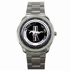reloj marco ford mustang plata reloj funcionamiento