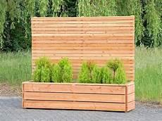 Pflanzkasten Holz Lang L Mit Sichtschutz Pflanzkasten