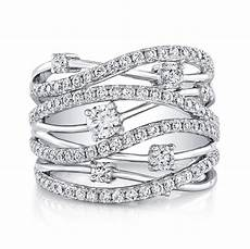 18k white gold multiband diamond fashion band fm28917 18w bova diamonds