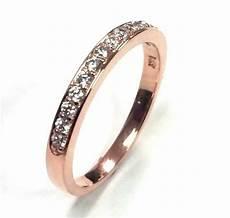 diamond wedding engagement ring band 0 22 carat s solid 14k rose gold ebay