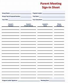 sle meeting sign in sheet 8 exles in word pdf