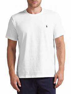 polo ralph crew neck lounge t shirt white at