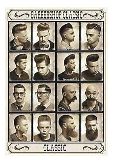 targa vintage quot 1960 hair cuts barber shop quot pubblicit 224 advertising poster plate ebay