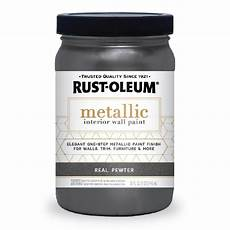 rust oleum 1 qt real pewter metallic paint 2 320735 the home depot