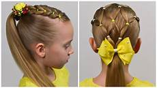 2 amazing summer hairstyles with pigtails and elastics easy little girl hairstyles 23 lgh