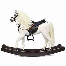deux chevaux en bois cheval 224 bascule royal spinel blanc les chevaux 224