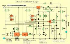 automatic 9 volt battery charger circuit diagram