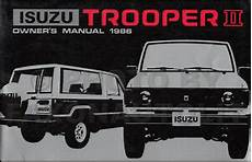 manual repair free 1995 isuzu trooper on board diagnostic system 1986 isuzu trooper ii owners manual original oem owner user guide book ebay
