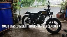 Modifikasi Suzuki Thunder Japstyle by Suzuki Thunder 125 Modifikasi Japstyle Biaya