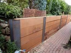 Mauer Aus Holz - holzschwellen mauer aus naturstein friesenw 228 lle