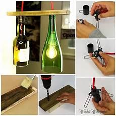 flaschenle selber machen pendelle aus flaschen mit paletteholz selber machen
