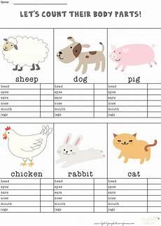 animal parts worksheets esl 14296 animal parts counting worksheet itsy bitsy