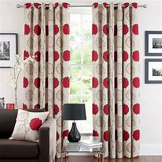 gardinen rot red louisa lined eyelet curtains dunelm