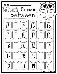 kindergarten numbers between worksheet