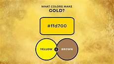 what two colors make gold how to make gold paint