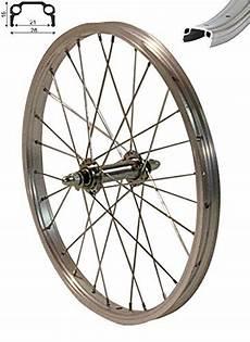 redondo 16 zoll vorderrad laufrad fahrrad kasten felge